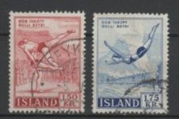 (S1621) ICELAND, 1957 (Sports). Complete Set. Mi ## 314-315. Used - 1944-... Republique