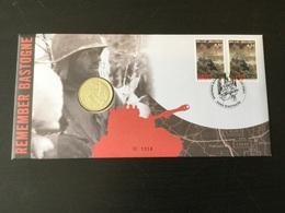 Numisletter (60 Ans De La Bataille Des Ardennes) : Timbres + Oblitération + Médaille - Numisletters