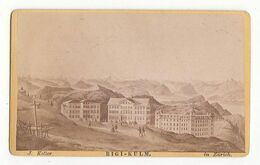 CDV Photo Foto Circa 1870-75: J. Keller, Zürich - Ansicht, RIGI-KULM - Places