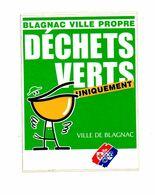 Autocollant Blagnac Ville Propre Déchets Verts- Format : 11x14.5 Cm - Stickers
