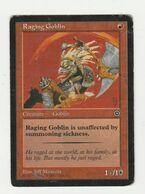 Magic The Gathering Raging Gobling 1993-1998 Deckmaster - Rot