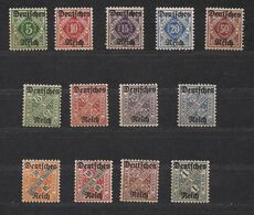 Deutsches Reich Allemagne Württemberg 1920  Yvertn° 130-142 *** MNH  Cote 105 € - Wurtemberg
