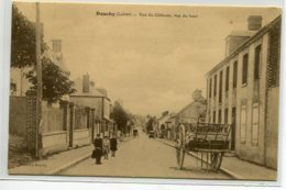 45 DOUCHY Rue Du  Gatinais  Vue Du Haut Charette De Bois   Enfants écrite En 1923 Timb - Edit Vincent    D14 2020 - Frankreich