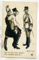 """MILITARIA  Satirique  Officiers Allemands """" Que Font Nos Troupes ? Elles Foutent Le Camp .."""" 1914  /D04-2017 - Weltkrieg 1914-18"""