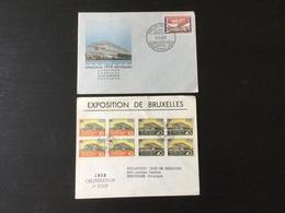 Expo 58: 2 Documents Philatéliques Sur Le Pavillon Soviétique De L'expo - Russia & URSS