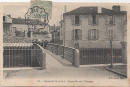 Corbeil : Passerelle Sur L'Essonne (Voyagé 1906) - Corbeil Essonnes