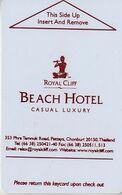 CLÉS D' HÔTEL  DU  MONDE  *** BEACH HÔTEL *** - Hotelkarten