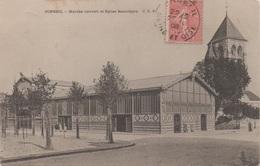 Corbeil : Marché Couvert Et Église Saint-Spire (Voyagé 1908) - Corbeil Essonnes