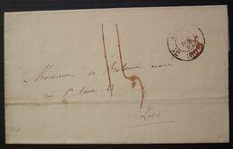 Paris 1863 Cachet Paris 3e 30 C Barré En Rouge? + Taxe Rouge Sur Lettre Caisse Des Dépôts Et Consignations Cachet Revers - 1849-1876: Classic Period