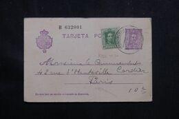 ESPAGNE - Entier Postal + Complément Pour Paris En 1930 - L 70654 - 1850-1931