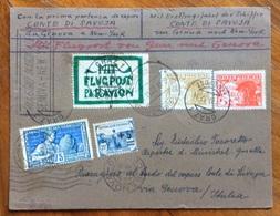 CONTE DI SAVOIA - 30/XI/32  VIAGGIO INAUGURALE GENOVA - NEW YORK ( 2 Guller) + VOLO GRAZ - GENOVA ... - Maritime