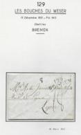 Département Conquis LES BOUCHES DU WESER Marque Postale 129 / BREMEN 37mm Mars 1813 - 1792-1815: Dipartimenti Conquistati