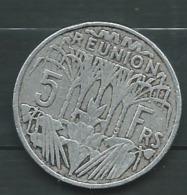 MONNAIE REUNION 5 FRANCS 1955 ,  -  Pieb23005 - Réunion