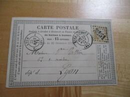 Rive De Gier   Gros Chiffre 3151  Carte Postale Precurseur Ceres 15 C - Marcophilie (Lettres)