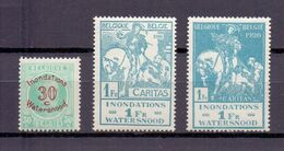 237/239 WATERSNOOD  POSTFRIS** 1926 - Unused Stamps