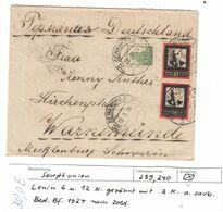 Sowjetunion , 1924 , Bedarfsbrief Nach Deutschland - Lettres & Documents