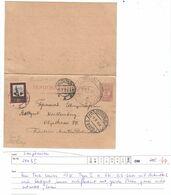 Sowjetunion , 1924 , Ganzsache Mit Antwortkarte  Nach Deutschland - Briefe U. Dokumente