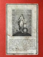 Image Pieuse Anno 1852 - GRAVURE Doodsprentje Décés - VAN THEMSCHE HOMBEEK Cruyshautem - 11 Cm X 7 Cm - Andachtsbilder