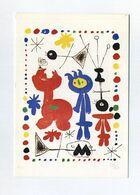 CP Utilisée - Joan Miro - Personnage Et Oiseaux, 1948. Krefeld, Kaiser-Wilhelm Museum - Paintings