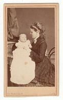 CDV Foto Photo Dat. 1874: Ed. Waltgenbach, Coeln/Köln - Hübsche Junge Mütter Mit Kind - Identified Persons