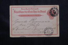BRÉSIL - Entier Postal De Sao Paulo Pour La France En 1912 - L 70685 - Enteros Postales