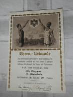 """Ehren-Urkunde """"Der Männerturnverein 1862 Kronberg I.Ts. 1937 - Documenten"""