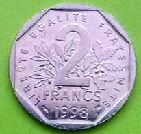 2 Francs , République Française, 1998, TTB (FV) - I. 2 Franchi