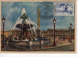 Carte Maximum La Concorde Avec N°783 Oblitérée Congrés UPU 13/5/47  Cote Yvert :  B1  45E - 1940-49