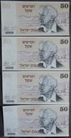4 BILLETS OF ISRAEL 1978 De 50  ( NEUF ) - Israel