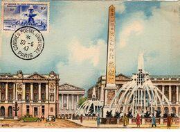 Carte Maximum Avec N°783 La Concorde Oblitérée Congrés Postal Universel 30/5/47  Cote Yvert : D2  55E - 1940-49