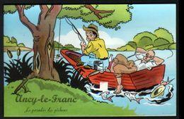 89, Ancy Le Franc, Carte A Systeme, Sans Les Photos ( Confectionnement Interrompu ), Peche, Poisson - Ancy Le Franc