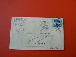 D203 / NAPOLEON N° 14 SUR LETTRE - 1853-1860 Napoléon III