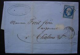 Saar-Union (Bas Rhin) 1859 Pc 2766 Sur N°14 Les Fils Langengagen & Hepp Manufacture De Chapeaux, Belle Facture - 1849-1876: Klassieke Periode