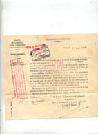 Lettre Facture Droit Invention 1922 - Other