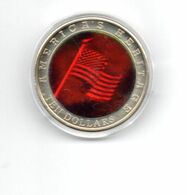 LIBERIA 10 DOLLARS 2002 CN COLOURED HOLOGRAM AMERICAN HERITAGE AMERICAN FLAG - Liberia