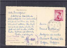 Autriche - Carte Postale De 1951 - Oblit Wien - Tag Der Briefmarke - Costumes - Avec Censure - Valeur 8 € ++ - 1945-60 Brieven