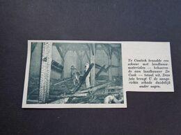 """Origineel Knipsel ( 6384 ) Uit Tijdschrift """"  De Stad """"  1936 :   Brand   Contich  Kontich  Pompier - Alte Papiere"""