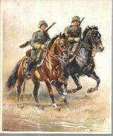 AS90 - CARTON 17.5 X 21.5 CM - CAVALIERS ARMEE SUISSE - ENVIRON 1938 - Libros, Revistas & Catálogos