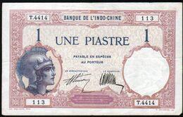 Banque De L'Indo-chine, Billet De 1 Piastre, 1927/1931 - Indochina