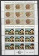 Europa Cept 1983 Yugoslavia 2v 2 Sheetlets ** Mnh (49669) ROCK BOTTOM - Europa-CEPT