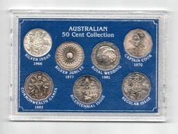 AUSTRALIE COINSET 50 CENT COLLECTION 7 PCS.  INCL. 1966 SILVER - Decimale Munt (1966-...)