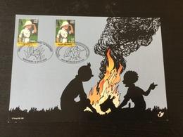 N°3048 De Belgique + N°2092 République Démocratique Du Congo : Tintin Sur Carte Souvenir - Souvenir Cards