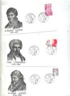 3 Lettres Cachet Lyon Musique Et Revolution - Postmark Collection (Covers)