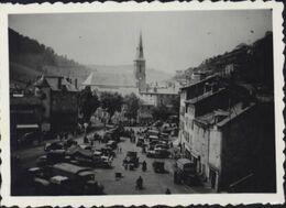 15 Cantal Photographie Photo 8,8 X 6,3cm St Flour Juin 1940 Durant La Débâcle Guerre 39 45 Cachet Dinox - Guerra, Militares