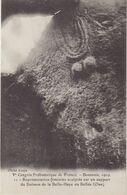 DOLMEN : De La Belle - Haye ( Oise ) . Représentation Féminine Sculptée Sur Sur De Dolmen . - Dolmen & Menhire