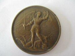 17 Novembre 1918 - Libération De La Ville (de Bruxelles) - Médaille - Saint Michel Terrassant L'ennemi - Gemeindemünzmarken