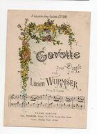 MUSIQUE * PARTITION * GAVOTTE PIANO LUCIEN WURMSER * PAULETTE COTTARD * édit. Poulalion, Vichy *MAISON MUSICALE - Postales