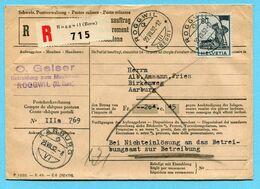 Einzugsauftrag Roggwil 1952 - Absender: O. Geiser - Bekleidung Zum Musikhaus - Cartas