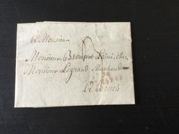 Pré Curseur Daté De Gosselies 3/09/1810 Avec Griffe En Rouge 94/Genappe Vers Bruxelles - 1794-1814 (French Period)