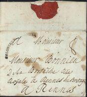 Marque D'entrée Cintrée Noire COLONIES P. + NANTES Taxe Manuscrite 8 Lettre De Leogane à St Domingue Haïti 1786 - Entry Postmarks